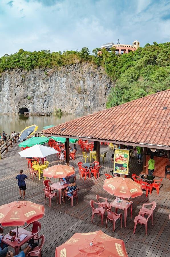 Tangua公园的甲板,库里奇巴 库存图片