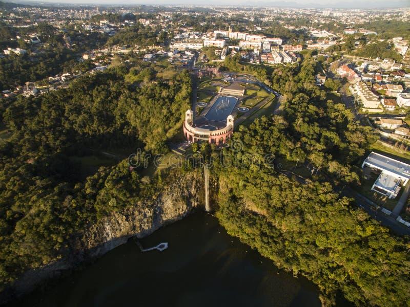 Tangua公园鸟瞰图  库里奇巴, PARANA/BRAZIL 2017年7月 免版税图库摄影