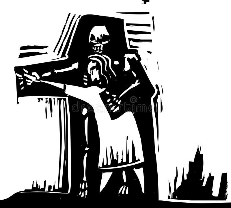 taniec śmierć ilustracji