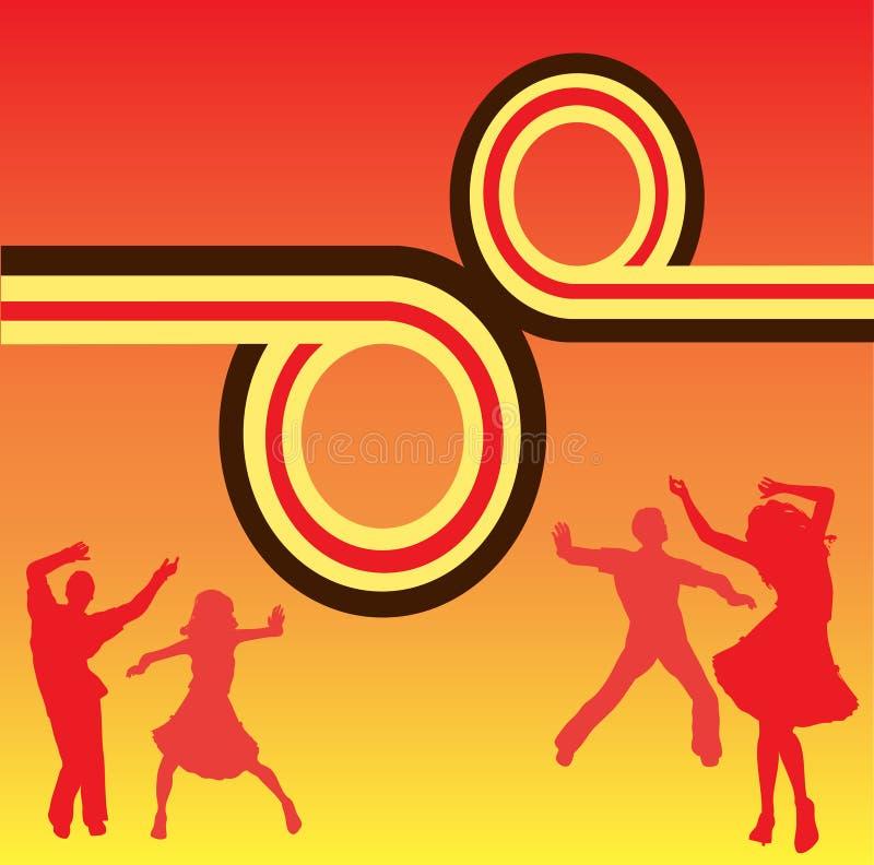 taniec świetlicowa ulotka ilustracji