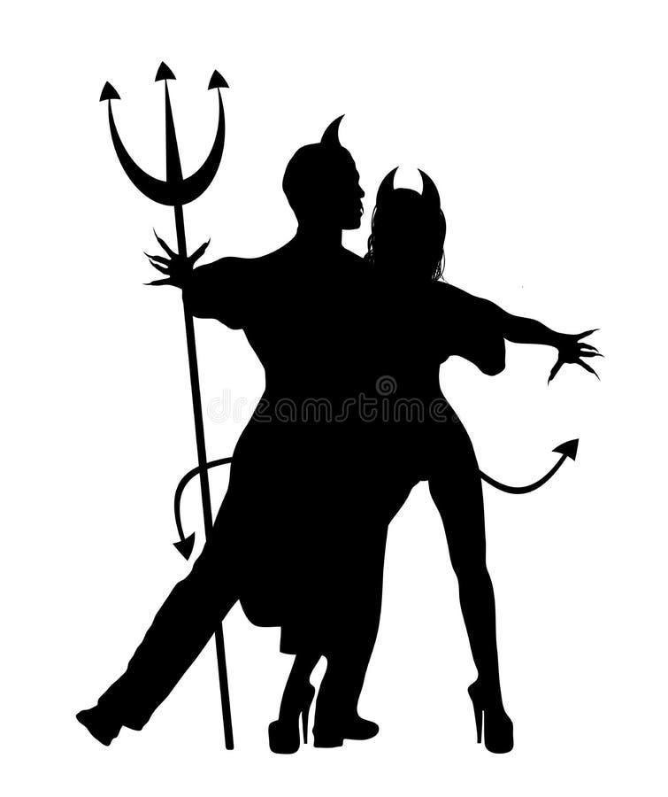 taniec 1 diabły royalty ilustracja