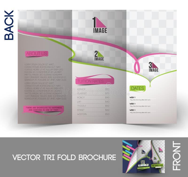 Taniec akademii trifold broszurka ilustracji