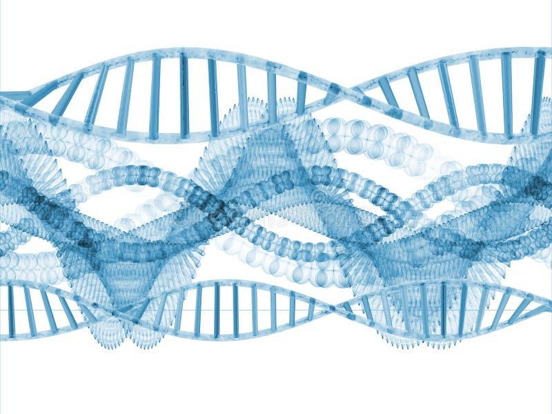 taniec cząsteczkowy ilustracja wektor