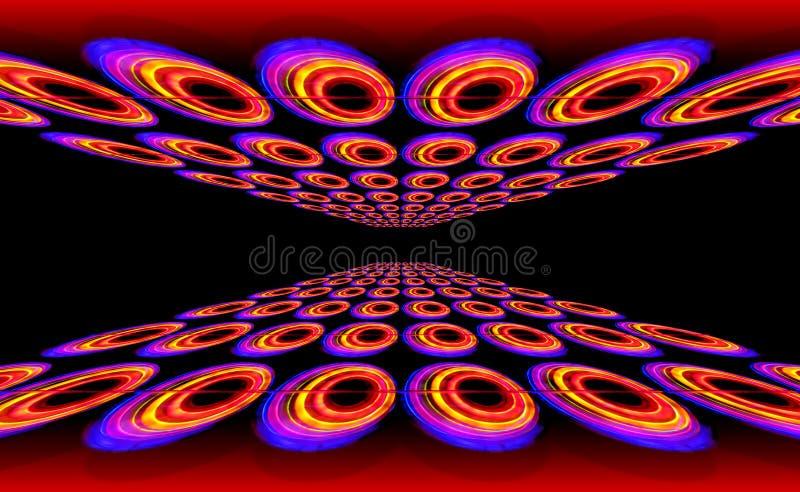 taniec disco podłogi ilustracji