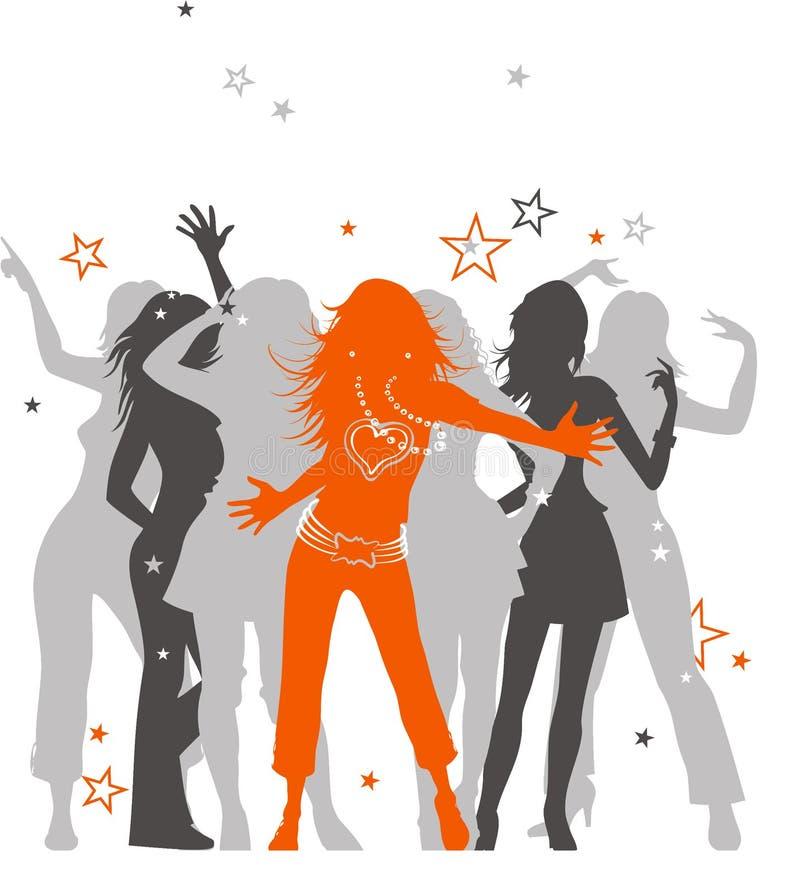 taniec dyskoteka ilustracja wektor