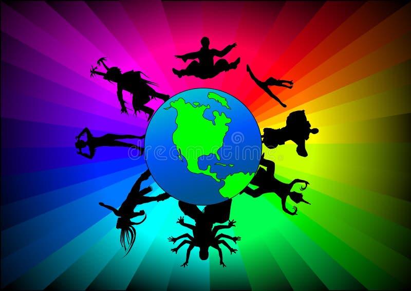taniec globalny ilustracji