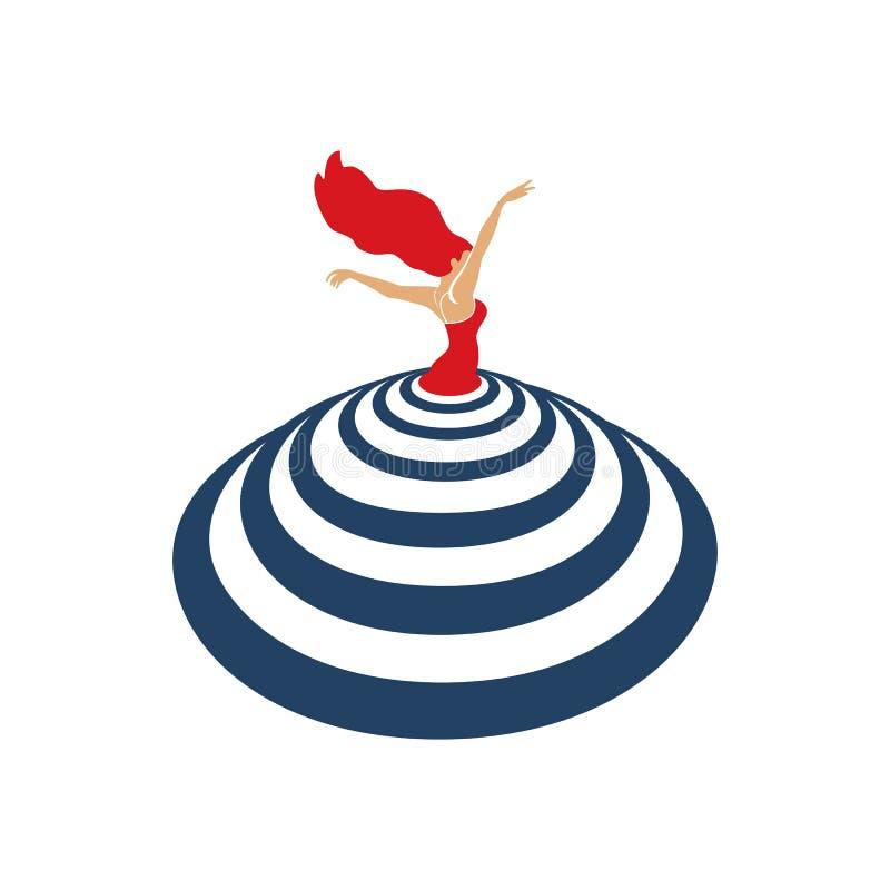 Taniec ikony pojęcie ilustracji