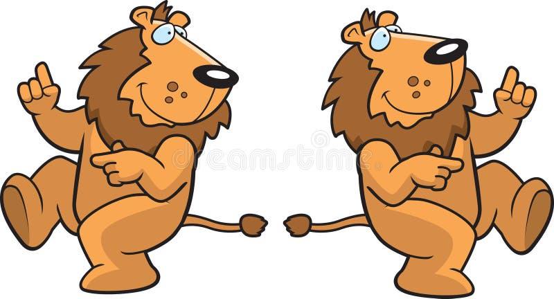 taniec lwa royalty ilustracja