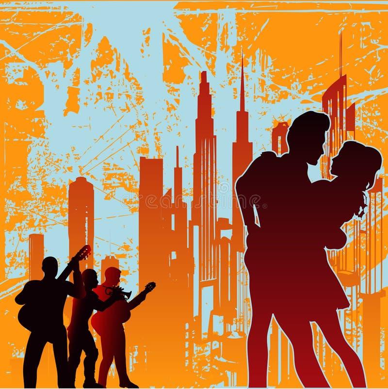 taniec miastowy royalty ilustracja