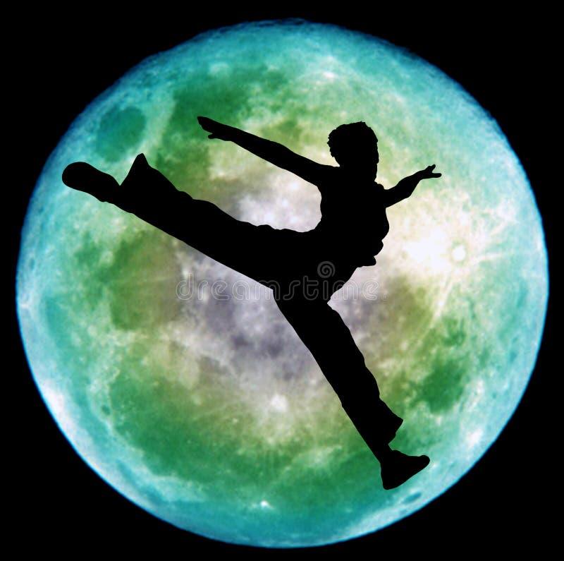 taniec na księżyc ilustracja wektor
