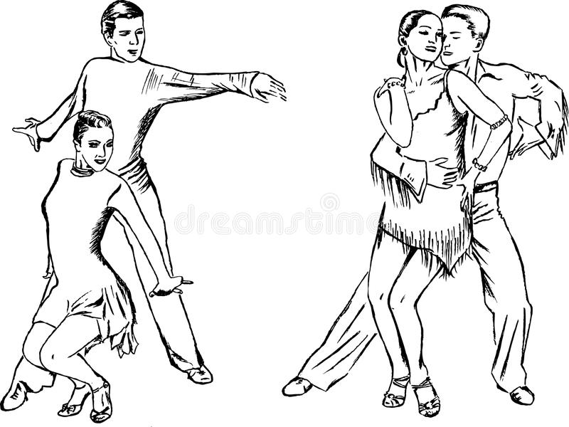 taniec pary ilustracji