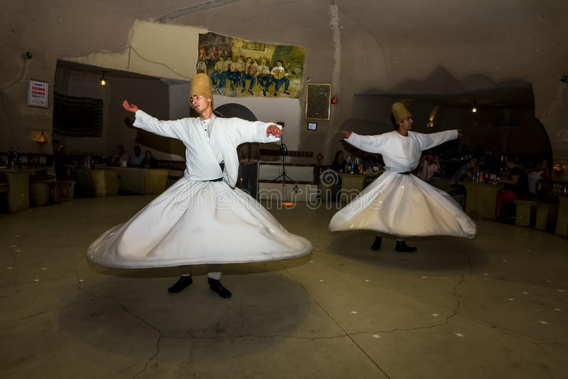 Taniec Sufi derwisze fotografia stock