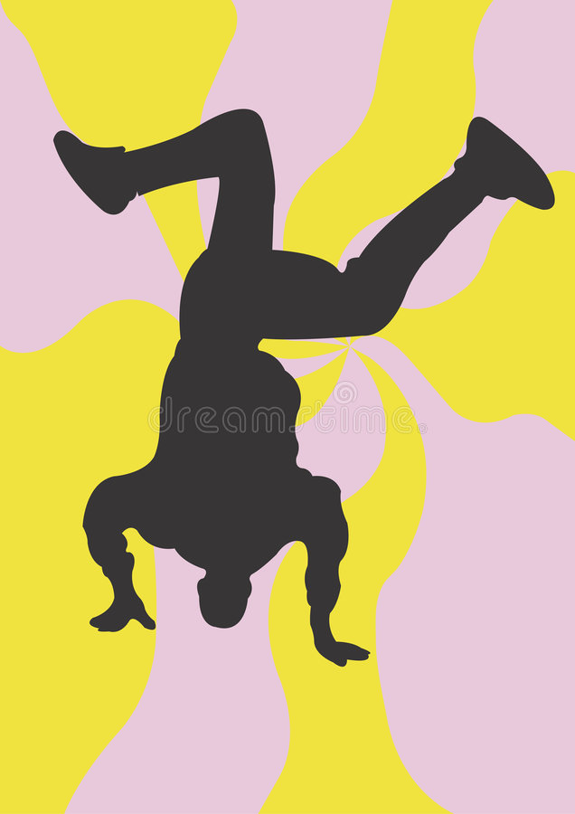 taniec ulicy ilustracji