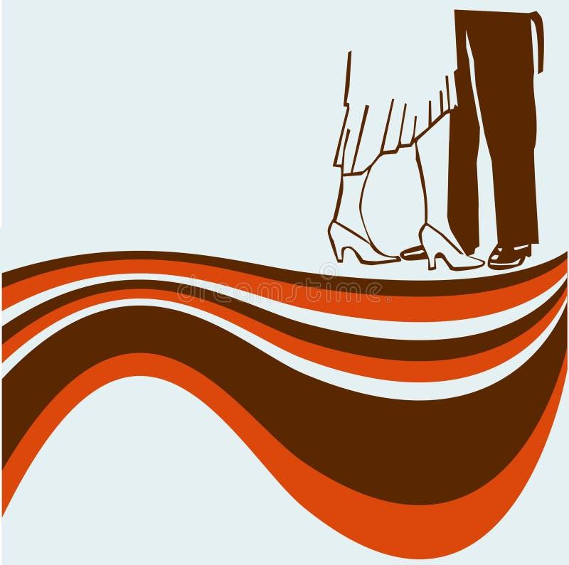 taniec ulotka retro ilustracja wektor