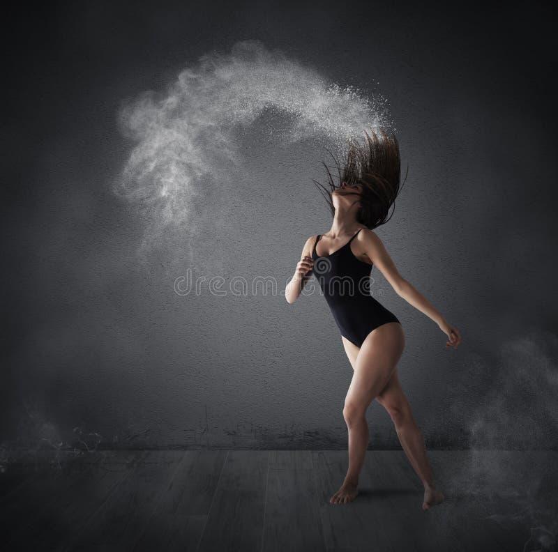 Taniec z proszkiem obrazy royalty free