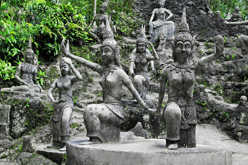 tanim волшебства сада Будды стоковое изображение