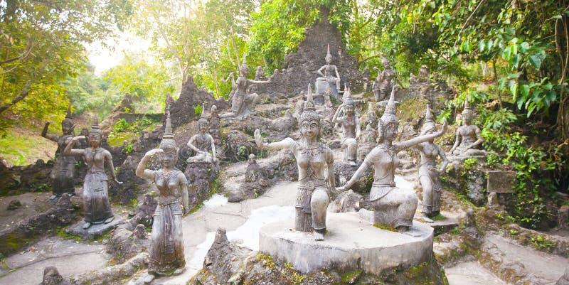 Tanim magisk Buddhaträdgård, Koh Samui ö arkivfoto