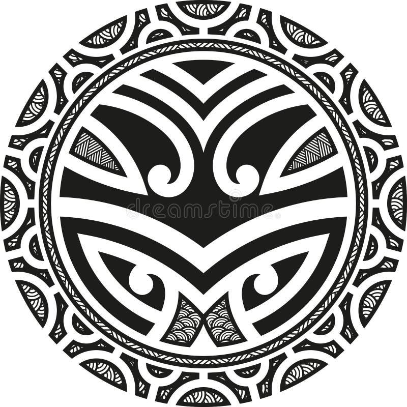 Taniwhacirkel stock illustratie