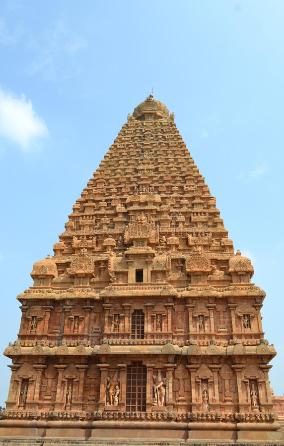 Tanjore tempel royaltyfria foton