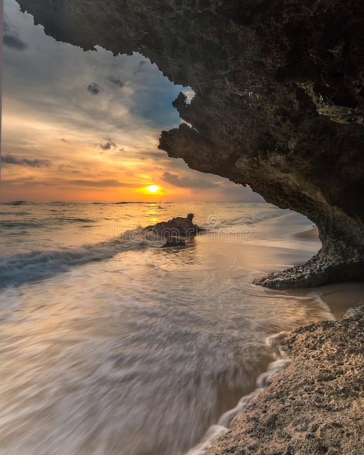sunset at lemo-lemo beach bulukumba South Sulawesi stock photos