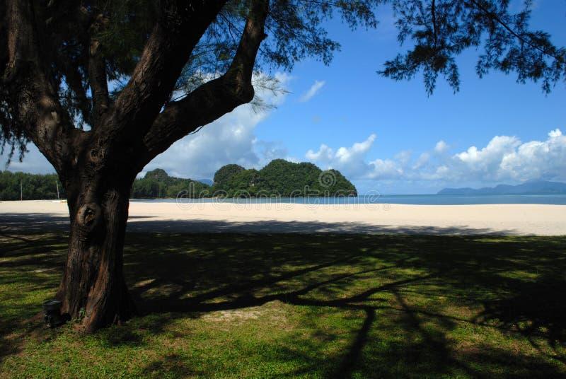 Tanjung Rhu Strand, Langkawi in Malaysia lizenzfreies stockbild