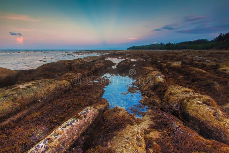 Tanjung Simpang Mengayau, Kudat, Sabah imagens de stock