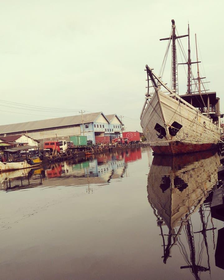 Tanjungemas seaports royalty free stock photo