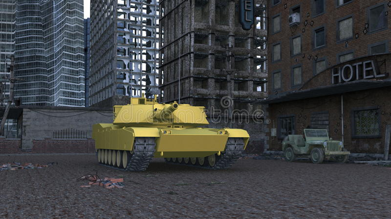 Download Tank stock illustration. Image of military, tank, clouds - 23254109