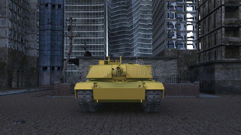 Download Tank stock illustration. Image of military, clouds, cityscape - 23254134