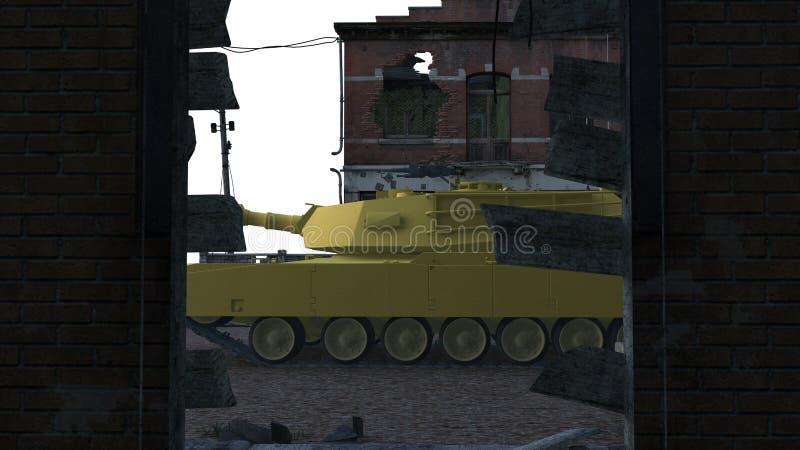 Download Tank stock illustration. Illustration of military, ruins - 23254175