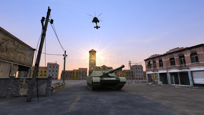 Download Tank stock illustration. Image of military, cityscape - 23254455