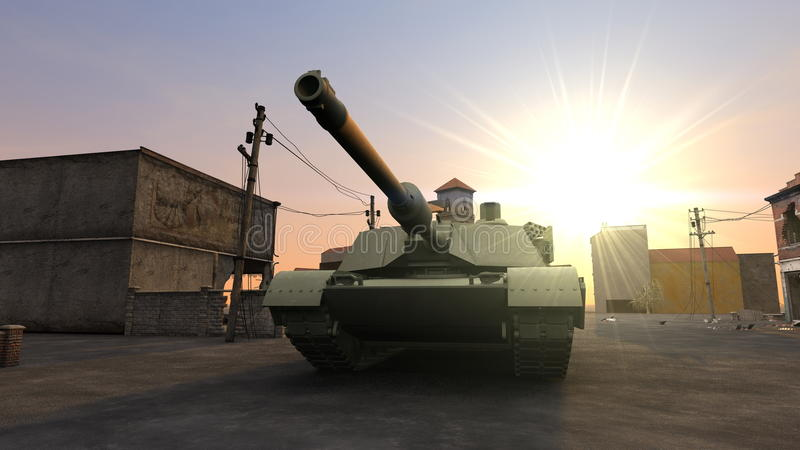 Download Tank stock illustration. Image of battlefield, building - 23254507