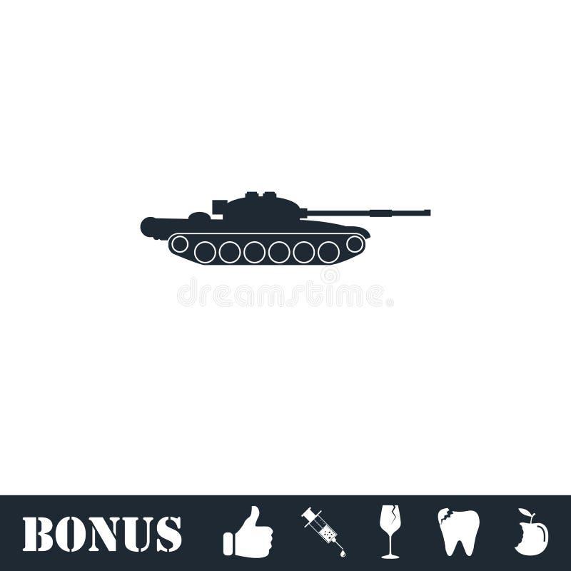 Tank army icon flat stock illustration