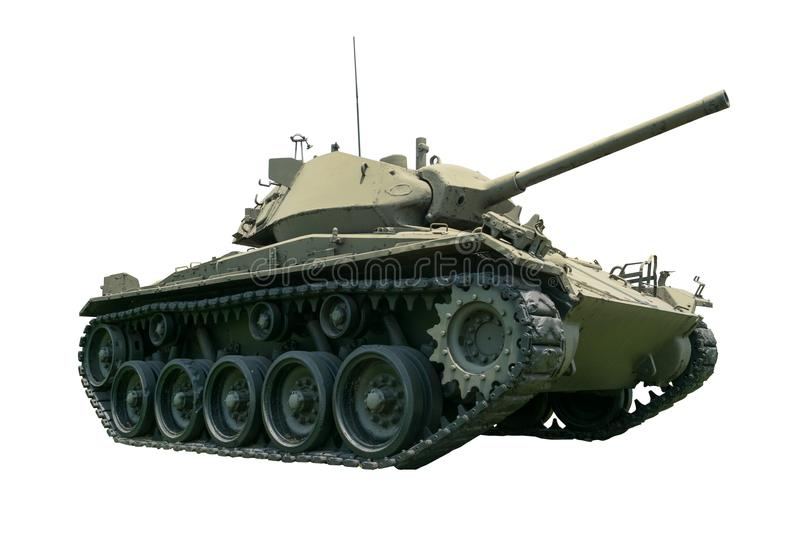 Tank in the Army in isolated royalty free stock photo