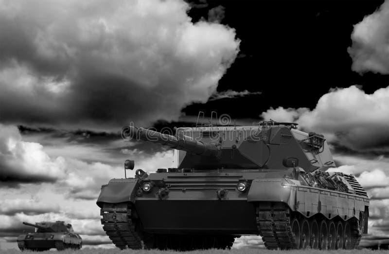 Download Tank Battle stock photo. Image of allied, battle, black - 7939822