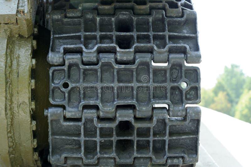 Tank Caterpillar Tread Close-Up royalty free stock images
