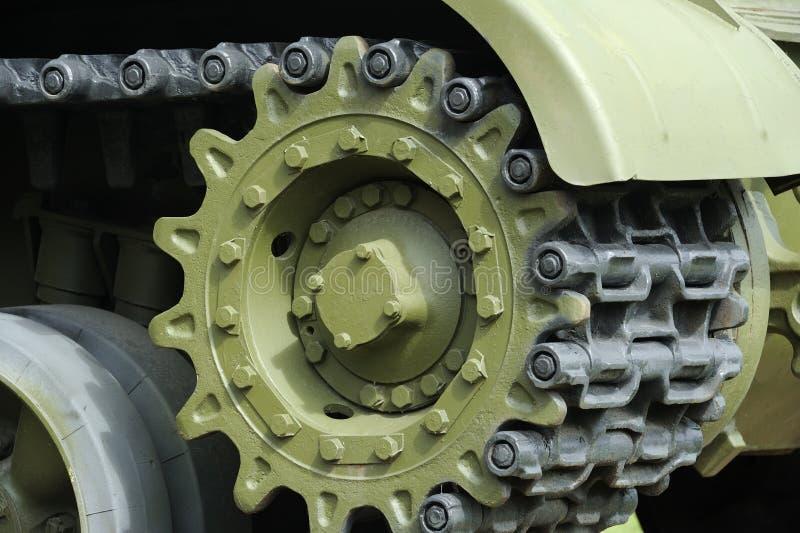 Tank Caterpillar Tread with Wheels. A tank caterpillar tread with wheels stock photos