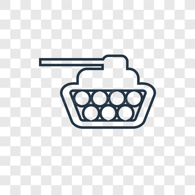 Tank concept vector linear icon isolated on transparent background, Tank concept transparency logo in outline style stock illustration