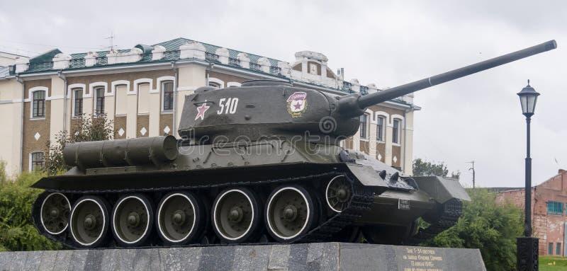 Tank on exhibit in Kremlin in Nizhny Novgorod, Russian Federation. Tank on exhibit is taken in Kremlin in Nizhny Novgorod, Russian Federation stock image