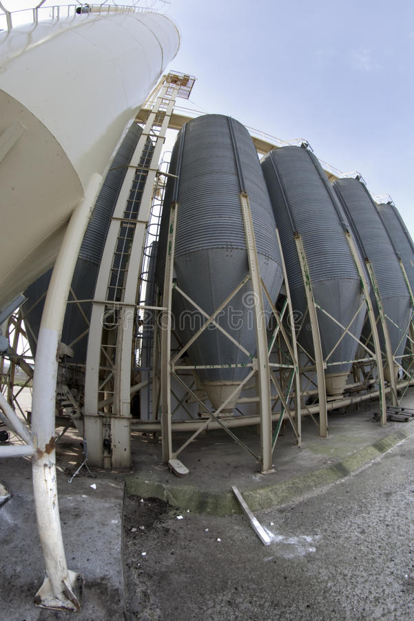 Tank Of Factory Stock Photos