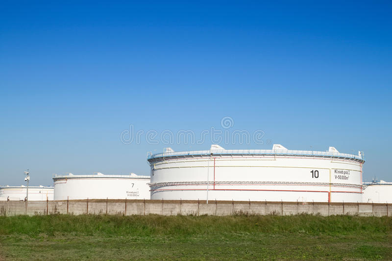 Download Tank farm stock photo. Image of metal, flammable, background - 16550298