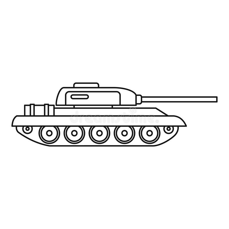 Tank icon, outline style vector illustration