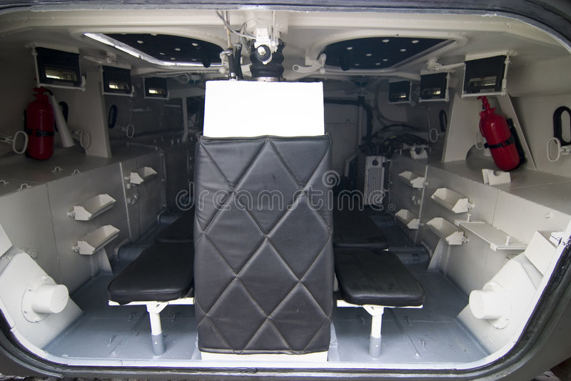 Tank interior royalty free stock photo