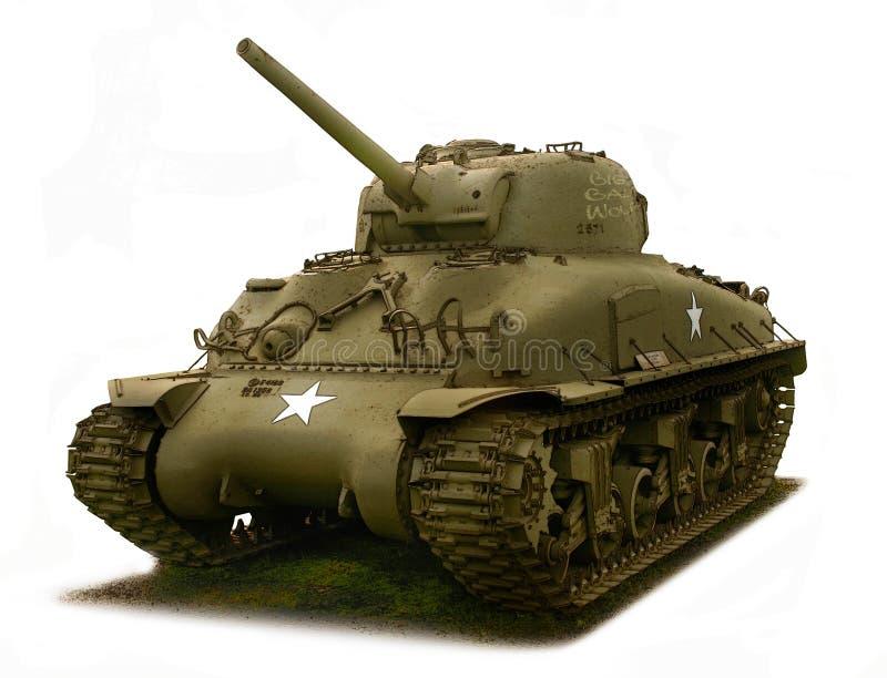 Tank, M4 de illustratie van Sherman stock illustratie