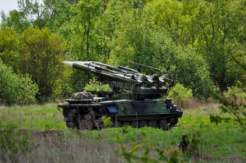 Download Tank with missiles stock image. Image of mission, defender - 24774587