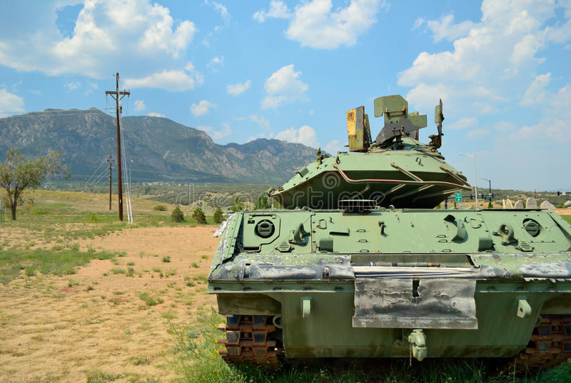 Download Tank in the Mountains stock image. Image of military - 26215427