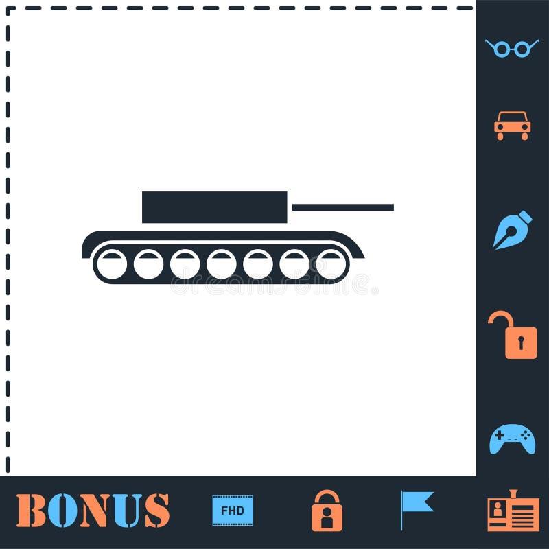 Tank icon flat royalty free illustration