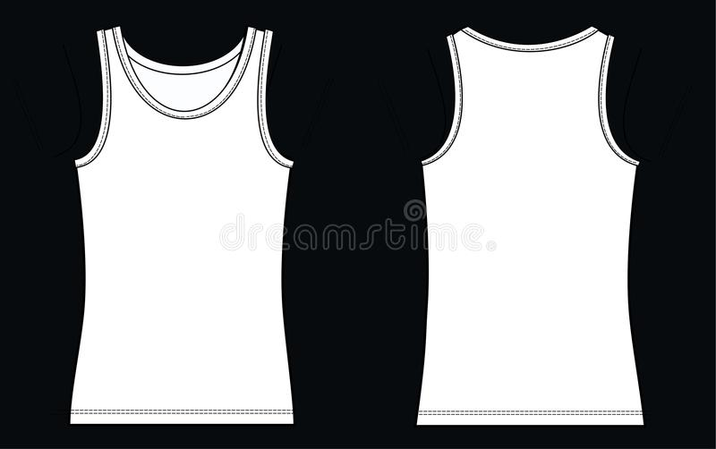 Tank top. Illustration of a tank top a garment sketch for textile and fashion industry royalty free illustration