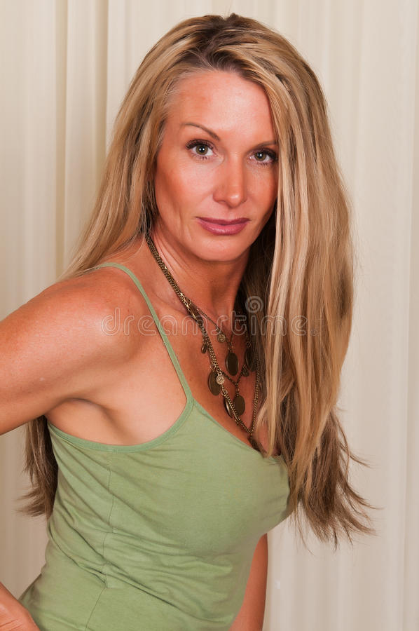 Download Tank top stock photo. Image of blouse, blonde, pretty - 20896050