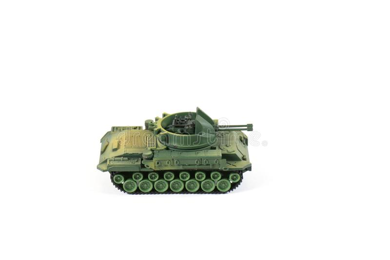 Toys Tank plastic on white background, War, fight army soldier t royalty free stock photography